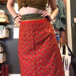 Beautiful paisley print vintage skirt